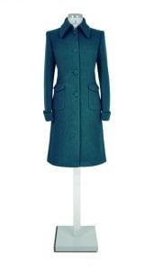 Grüner Mantel mit Paspeltasche