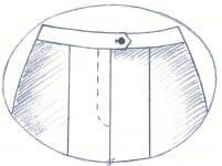 Damenhose ohne Paspeltasche