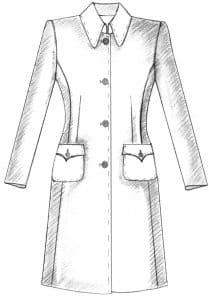 sportlicher Mantel