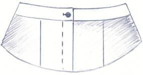 Damenhose ohne Bundverlaengerung