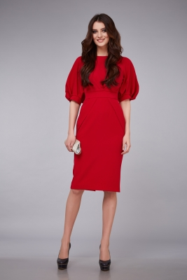 knielanges rotes Cocktailkleid