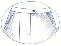 Damenhose mit französischer Tasche