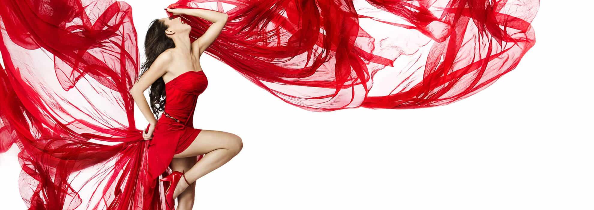 rotes festliches kleid