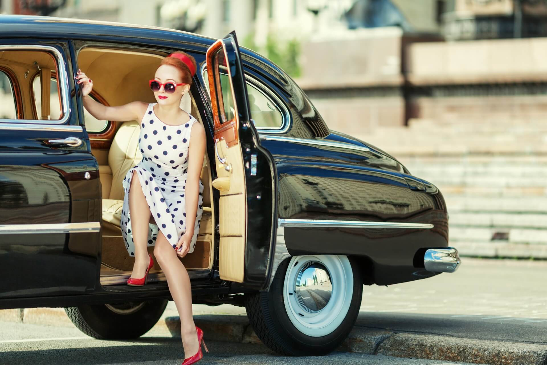 polka dots vintage look