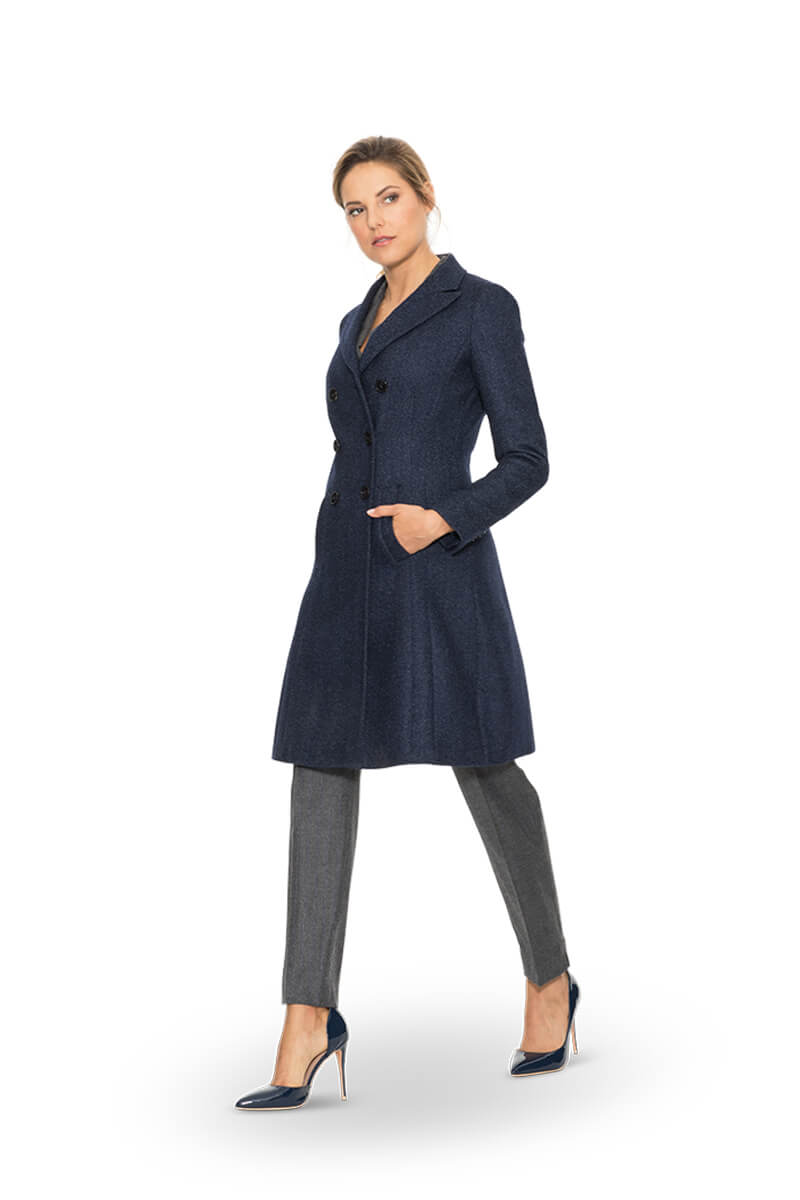 tweed damen blazer mantel kostuem