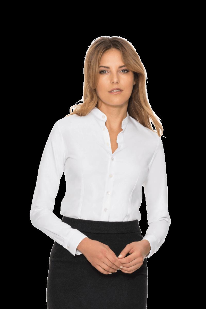 Damenbekleidung nach Maß - Weiße Maßbluse fürs Büro